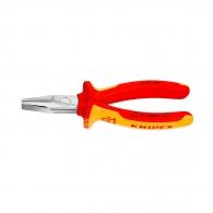 Клещи жустерни KNIPEX 160мм 1000V, прави, CrV, плоски челюсти, двукомпонентна дръжка