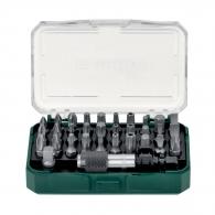 Комплект накрайници METABO 32части, PH, PZ, SB, TX, шестостен с магнитен държач