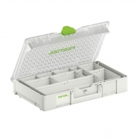 Куфар за инструменти FESTOOL SYS3 ORG L 89 10xESB, пластмаса, бял