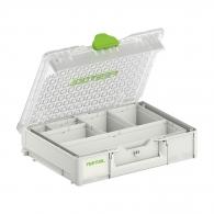 Куфар за инструменти FESTOOL SYS3 ORG M 89 6xESB, пластмаса, бял