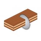 Диск с твърдосплавни пластини CMT 350/3.5/30 Z=54, за рязане на мека и твърда дървесина, дървесни плоскости - small, 87744
