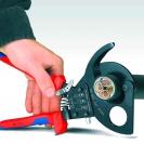 Ножица за кабели KNIPEX 280мм, ф52мм, автоматична, двукомпонентна дръжка - small, 107303