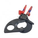 Ножица за кабели KNIPEX 280мм, ф52мм, автоматична, двукомпонентна дръжка - small, 127197