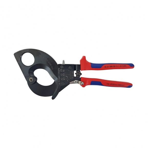 Ножица за кабели KNIPEX 280мм, ф52мм, автоматична, двукомпонентна дръжка
