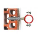Скоба за тръби с дюбел и шпилка FRIULSIDER 50416 1 1/2'', метална  50бр. в кашон - small, 139523