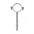 Скоба за тръби с шпилка и дюбел FRIULSIDER 50201 ф12мм,  метална, 100бр. в кутия - small