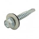 Винт за метал INDEX DIN7301 5.5x32мм, шест. глава, с неопр. шайба, самопробивен, 1000бр. в кутия - small, 117429