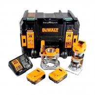 Акумулаторна фреза за кантове DEWALT DCW604P2, 18V, 5.0Ah, Li-Ion, ф6.35-8.0мм