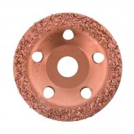 Диск карбиден наклонен BOSCH GROB 115х22.23мм, за шлайфане на стомана, алуминий или цветни метали, груб