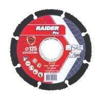 Диск карбиден RAIDER CARBIDE 125x1.4x22.23мм, за рязане на метал, епоксидно и фибро стъкло, пластмаса