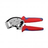 Клещи кербовъчни KNIPEX 0.14-16.0мм2, за неизолирани кабелни накрайници, AWG 26-5, двукомпонентни дръжки