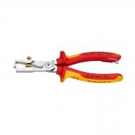 Клещи за заголване на кабели KNIPEX 0.5-6.0кв.мм/180мм-с винт, регулиращ винт, CS, двукомпонентна дръжка, 1000V