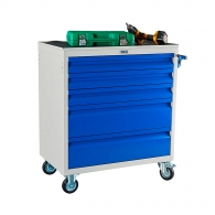 Количка за инструменти с чекмеджета PROMET WDS-5, с 5-чекмеджета, без инструменти, 820x453x868мм