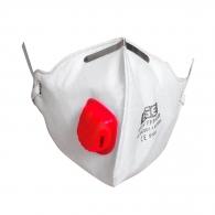 Маска EGE 4015 V FFP3 NR D, с клапа, сгъваема, бяла