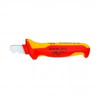 Нож за сваляне на изолация KNIPEX 7-28мм, изолиран 1000V