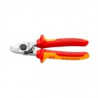 Ножица за кабели KNIPEX 165мм 1000V, ф15мм, Cu-Al, двукомпонентна дръжка