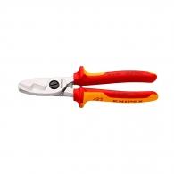 Ножица за кабели KNIPEX 200мм 1000V, ф20мм, Cu-Al, двукомпонентна дръжка