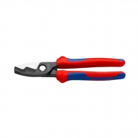 Ножица за кабели KNIPEX 200мм, ф20мм, Cu-Al, двукомпонентна дръжка
