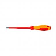 Отверткa плоска KNIPEX 1.2х6.5х262/150мм, изолирана 1000V, CrV-Mo, двукомпонентна дръжка