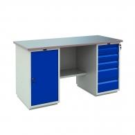 Работно бюро PROMET PROFI WT 160 WD1/WD5, с два шкафа, с пет чекмеджета, 1000кг. товароносимост