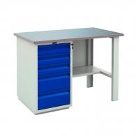 Работно бюро PROMET PROFI WT 160 WD5/F1, с един шкаф, с пет чекмеджета, 750кг. товароносимост