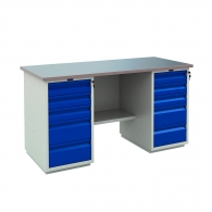 Работно бюро PROMET PROFI WT 160 WD5/WD5, с два шкафа, с десет чекмеджета, 1000кг. товароносимост