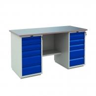 Работно бюро PROMET PROFI WT 180 WD5/WD5, с два шкафа, с десет чекмеджета, 1000кг. товароносимост