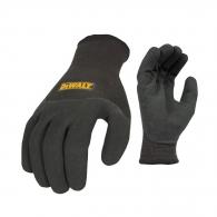 Ръкавици DEWALT DPG737L EU, черни, полиестер, топени в нитрил, ластичен маншет