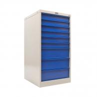 Шкаф за инструменти PROMET WDS-9, с 9-чекмеджета, без инструменти, 520x580x1010мм