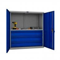 Шкафове за инструменти PROMET TC1095 001030, с един рафт и три чекмеджета, 200кг. товароносимост