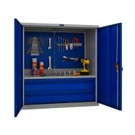 Шкафове за инструменти PROMET TC1095 021020, с екран, един рафт и две чекмеджета, 200кг. товароносимост