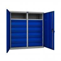Шкафове за инструменти PROMET TC1095 10020.10, с два рафта и десет чекмеджета, 200кг. товароносимост