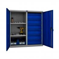 Шкафове за инструменти PROMET TC1095 100206, с два рафта и шест чекмеджета, 200кг. товароносимост
