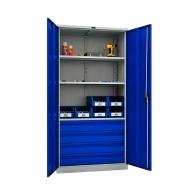 Шкафове за инструменти PROMET TC1995 003040, с три рафта, четири чекмеджета, 500кг. товароносимост