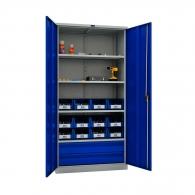 Шкафове за инструменти PROMET TC1995 004020, с четири рафта, две чекмедже, 500кг. товароносимост