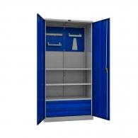 Шкафове за инструменти PROMET TC1995 023020, с екран, три рафта, две чекмедже, 500кг. товароносимост