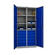 Шкафове за инструменти PROMET TC1995 10060.10, с шест рафта, десет чекмеджета, 500кг. товароносимост