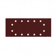 Шкурка велкро MAKITA 115х280мм Р100, за метал и дърво, с 14 отвора, кафяв, правоъгълна, самозалепваща