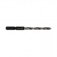 Свредло за дърво FESTOOL 10.0x61/33мм, CV-стомана, 2 режещи ръба, цилиндрична опашка с държач