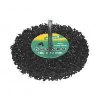 Четка дискова WOLFCRAFT ф100х13х6мм, за бормашина, плоска, силициев карбид, с цилиндрична опашка