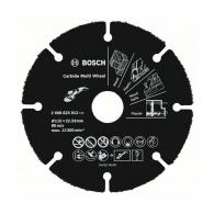 Диск карбиден BOSCH Carbide Multi Wheel 115х1.0х22.23мм, за дърво, пластмаса и др., сухо рязане, сегментиран