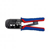 Клещи кримпващи KNIPEX 190мм, RJ11/12, RJ45, двуцветни-двукомпонентни дръжки
