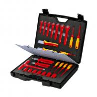 Комплект инструменти KNIPEX VDE 26 части, 1000V, отвертки, клещи, ключове в куфар