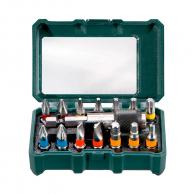 Комплект накрайници METABO 15части, PH, PZ, шестостен, TX, шестостен с магнитен държач