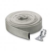 """Маркуч плосък текстилен за вода KARCHER 1 1/4""""-10м, 5bar, 120g/m, за отводняване,  сив"""