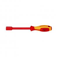 Отвертка вътрешен шестостен KNIPEX 11.0х125/112мм, изолирана 1000V, CrV-Mo, двукомпонентна дръжка