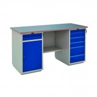 Работно бюро PROMET PROFI WT 160 WD2/WD5, с два шкафа, с пет чекмеджета, 1000кг. товароносимост