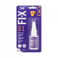 Секундно лепило TKK FIX 31 Super glue 20гр, течно