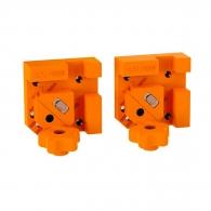 Стяги дърводелски ъглови комплект CMT 2броя, пластмасова, работна дебелина 6-25.4мм