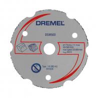 Диск карбиден DREMEL DSM500 77x11.1x2мм, за дърво, пластмаса, сухо рязане